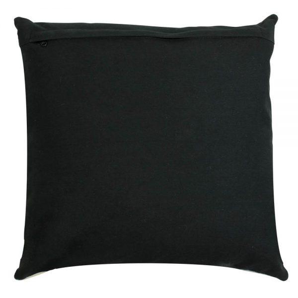 Black Cow Hide Square Cushion