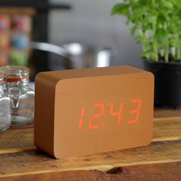 Brick Copper Click Clock