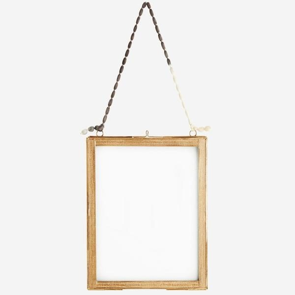 Hanging Photo Frame with Brass Borders Large