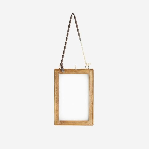 Hanging Photo Frame with Brass Borders Small