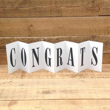 Congratulations Concertina Card