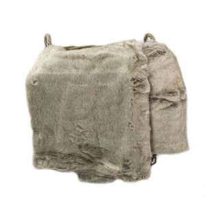Grey Faux Fur Throw 170cm x 240cm