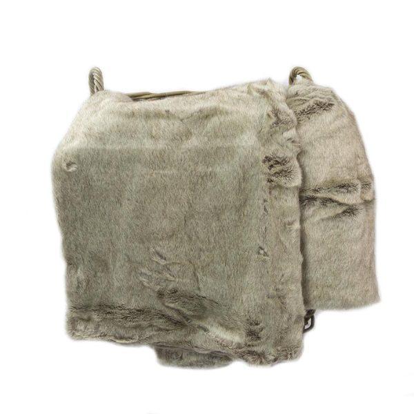 Grey Faux Fur Throw 170cm x 240cm