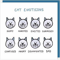 Cat Emoticons Card