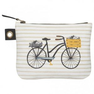 Biciciletta  Large Zipper Pouch
