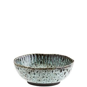 Turquoise stoneware bowl