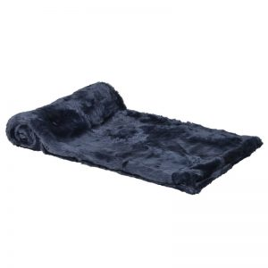 Blue Faux Fur Throw
