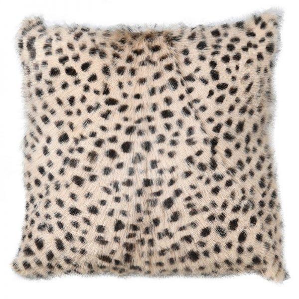 Leopard Print Goat Fur Cushion