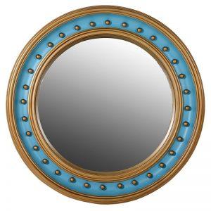 Turquoise Convex Mirror