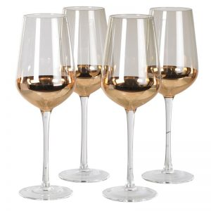 Single Smoky Grey & Gold Red Wine Glass