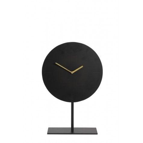 matt black clock on base