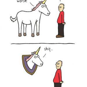 Last Unicorn Greetings Card
