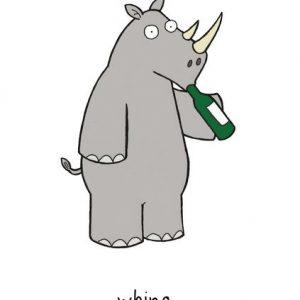 Whino greetings card