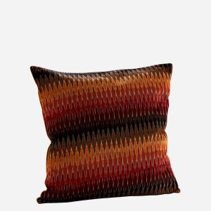 Ikat Velvet Double Sided Multi Coloured Cushion