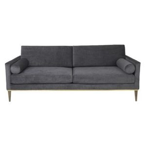 Luxury Steel Velvet Sofa