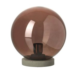 Smoked Rose Gold Globe Table Lamp