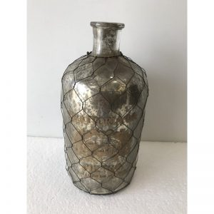 Decorative Netted Glass Apothecary Vase Small