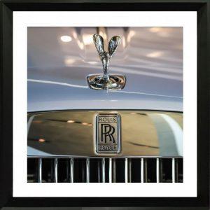 Framed Car Mascot Print Rolls Royce