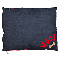 Denim Woof Dog Bed Medium