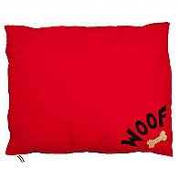 Red Woof Dog Bed Large