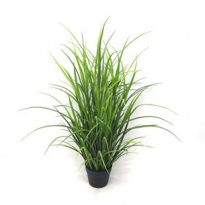 Faux leafy plant
