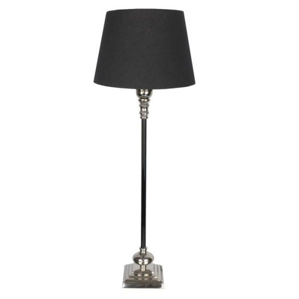 Large Windsor Table Lamp with Black and Nickel Finish
