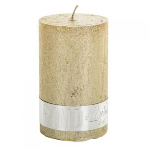 PTMD Metallic Shades Pillar Candle (8x5cm) Small Gold