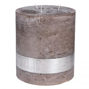 PTMD Rustic Ambient Brown 3 Wick Candle