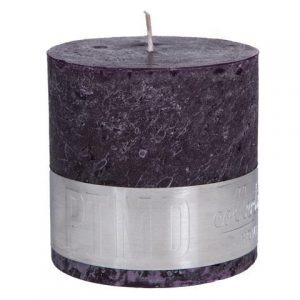 PTMD Rustic Purple Block Candle 12x9