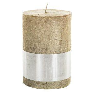 Metallic Gold Pillar Candle 10x7cm