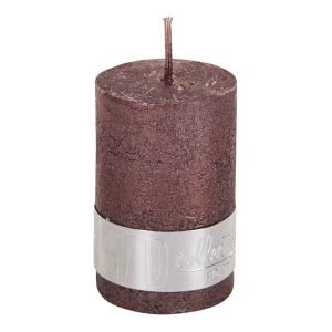 PTMD Metallic Shades Pillar Candle (6x4cm) X Small Bronze