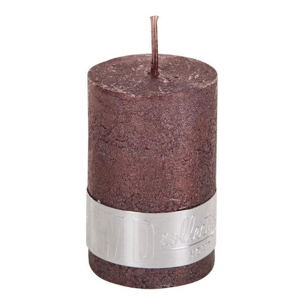 PTMD Metallic Shades Pillar Candle (6x4cm) X Small Bronze