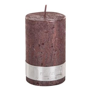 PTMD Metallic Shades Pillar Candle (8x5cm) Small Bronze