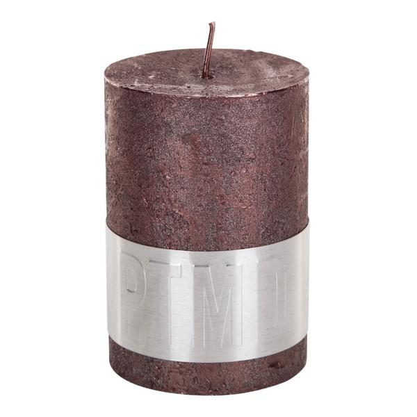PTMD Metallic Shades Pillar Candle (10x7cm) Large Bronze