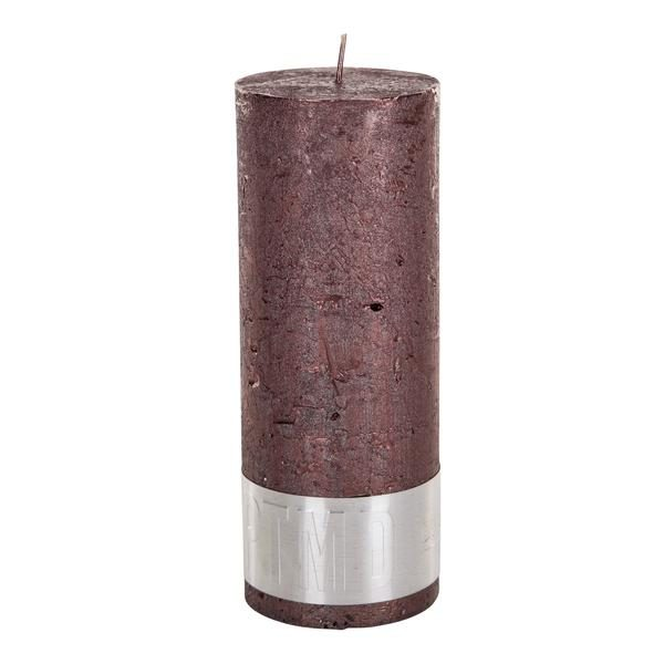 PTMD Metallic Shades Pillar Candle (18x7cm) X Large Bronze