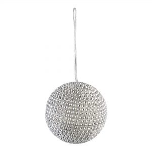 Christmas Silver Diamond Bauble