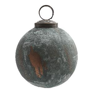 Christmas Earth Blue Round Glass Hanging Bauble