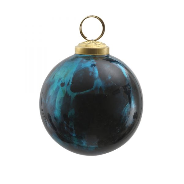 Christmas Glass Bauble Daryl Blue