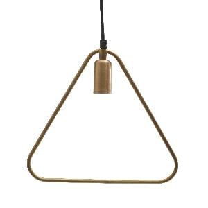 Triangle Brass Iron Hanging Lamp