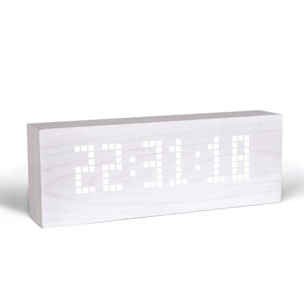 White Message Click Clock