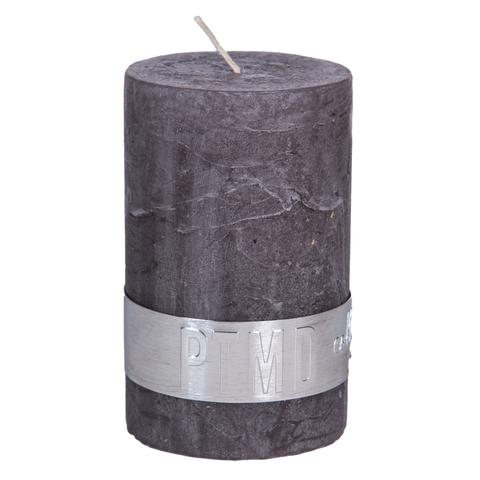 PTMD Rustic Dark Shades Pillar Candle (8x5cm) Small Swish Grey