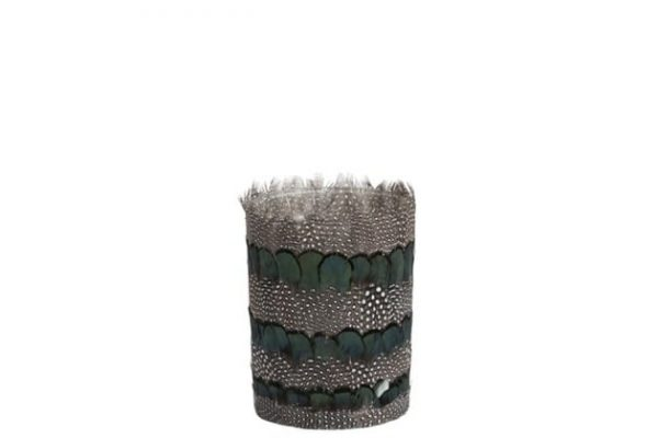 Feather Green Mix Tealight Holder Large