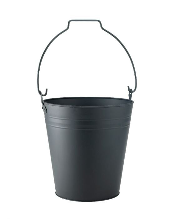 Coal Bucket with Black Handle
