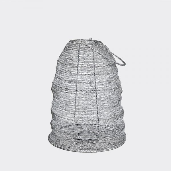 Metal Gauze Lantern in Dark Grey Large