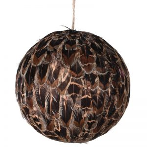 Christmas Brown Feather Bauble