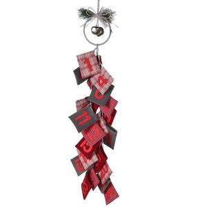 Red and Grey Bag Advent Calendar