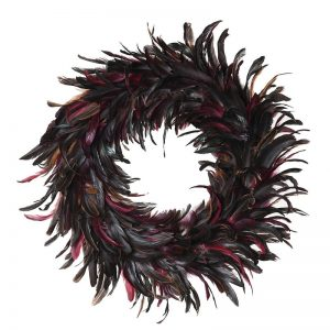 Multi Coloured Feathered Wreath
