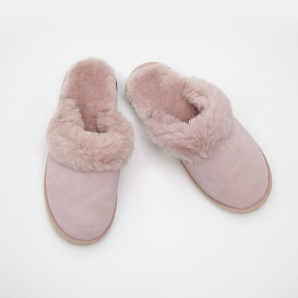 Ladies Sheepskin Slippers Pink