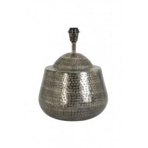 Stippled Antique Black Metal Lamp Base