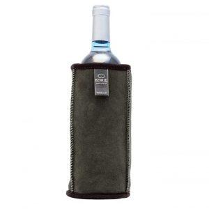Natural Sheepskin Wine Cooler Green